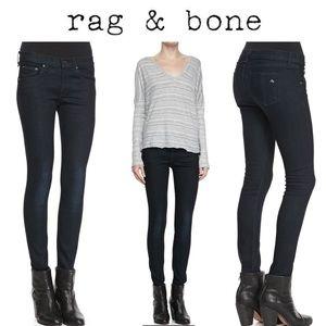 rag & bone/JEAN Olive Harrow Skinny Jeans